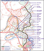 Communes traversées par le Contournement Est