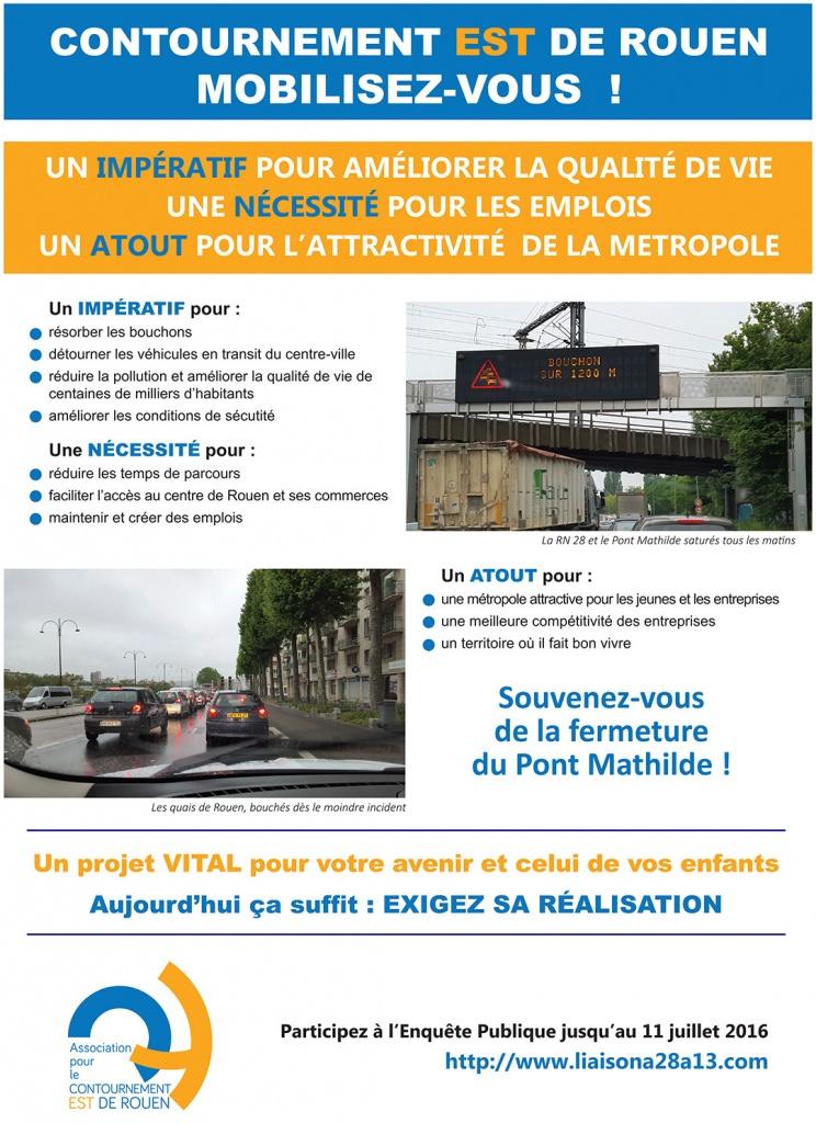 Exigez la réalisation du Contournement Est de Rouen ! Participez à l'Enquête Publique.